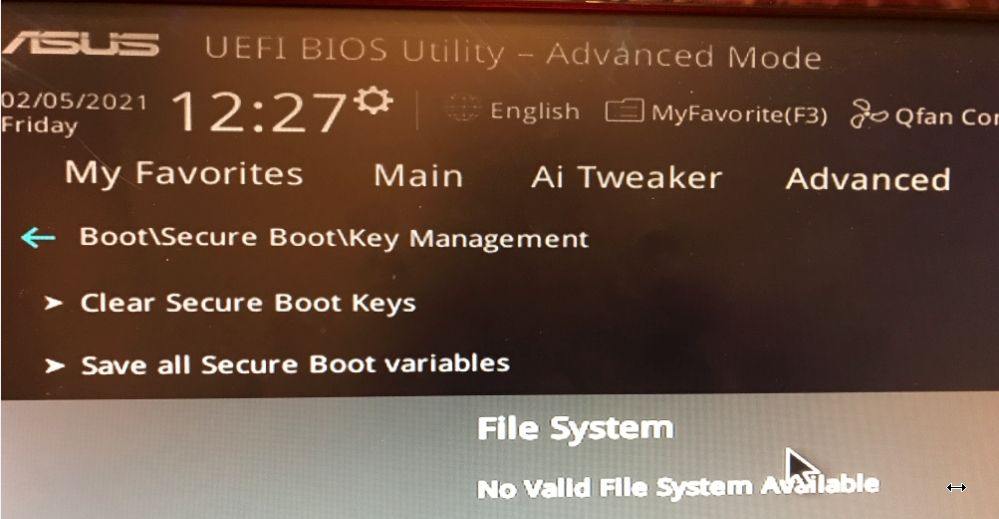 No valid file sytem for Key write with only Intel Raid Volume.jpg
