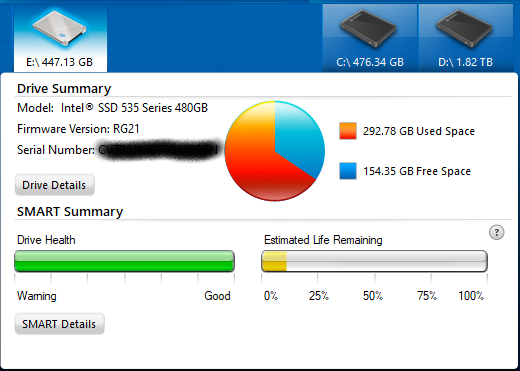 Intel SSD Life Remaining.PNG